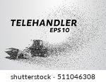 telehandler of the particles....   Shutterstock .eps vector #511046308