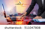 businessman working with... | Shutterstock . vector #511047808