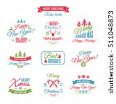 christmas labels elements... | Shutterstock .eps vector #511048873