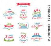 christmas labels elements... | Shutterstock .eps vector #511048873