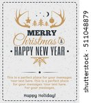 christmas greeting card gold... | Shutterstock .eps vector #511048879