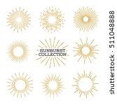 set of sunburst design elements ... | Shutterstock .eps vector #511048888