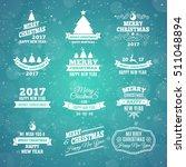 christmas labels element set... | Shutterstock .eps vector #511048894