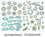weather symbols | Shutterstock .eps vector #511051654