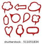 doodle style speech bubbles | Shutterstock .eps vector #511051834