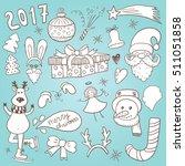 new year doodles | Shutterstock .eps vector #511051858