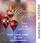 christmas party poster design | Shutterstock .eps vector #511052560
