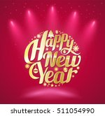 happy new year lettering circle.... | Shutterstock .eps vector #511054990