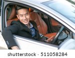 young business man with car and ... | Shutterstock . vector #511058284