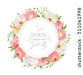 dahlia  ranunculus  peony  rose ... | Shutterstock .eps vector #511061998