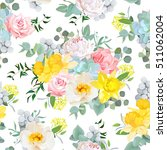 summer sunny floral seamless... | Shutterstock .eps vector #511062004