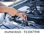 man check and repair the car... | Shutterstock . vector #511067548
