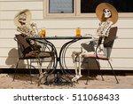 afternoon tea shared between... | Shutterstock . vector #511068433