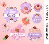 ice cream elements   vector... | Shutterstock .eps vector #511073473