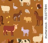 seamless pattern with cartoon... | Shutterstock .eps vector #511077844