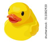 rubber ducky for bath on white... | Shutterstock .eps vector #511082920