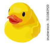 rubber ducky for bath on white... | Shutterstock .eps vector #511082920