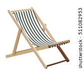 wooden chaise lounge on a white ... | Shutterstock .eps vector #511082953