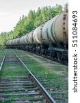 tank wagons with oil. freight... | Shutterstock . vector #511084693