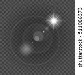 sun with lens flare lights... | Shutterstock .eps vector #511086373