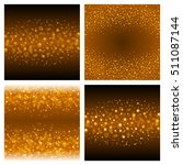 abstract golden light bokeh set ... | Shutterstock .eps vector #511087144