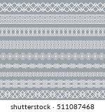 set of white borders isolated...   Shutterstock . vector #511087468