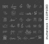 collection of hand sketched... | Shutterstock .eps vector #511091083