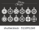 christmas balls. | Shutterstock .eps vector #511091260