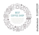coffee shop poster template.... | Shutterstock .eps vector #511092229