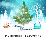 christmas. background with... | Shutterstock .eps vector #511095448