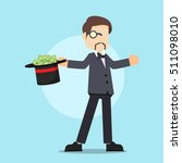 rich man with magic hat   Shutterstock .eps vector #511098010