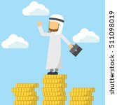 arabian on the top with money  | Shutterstock .eps vector #511098019