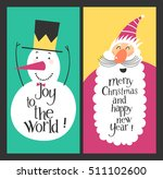 holiday cards   marry christmas ... | Shutterstock .eps vector #511102600