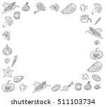 frame sliced vegetables icons... | Shutterstock .eps vector #511103734