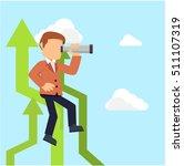 businessman on upside arrow  | Shutterstock .eps vector #511107319
