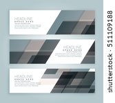 business style web banners set... | Shutterstock .eps vector #511109188