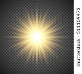 gold glowing light burst...   Shutterstock .eps vector #511109473