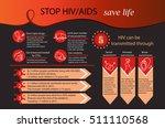 aids infographics. world aids... | Shutterstock .eps vector #511110568