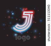 neon sign. color dynamic symbol ... | Shutterstock .eps vector #511113340