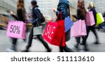 people shopping in the city in... | Shutterstock . vector #511113610