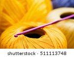 Yellow Thread With Crochet...