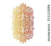 vector ornamental lotus flower  ...   Shutterstock .eps vector #511115098