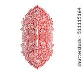vector ornamental lotus flower  ...   Shutterstock .eps vector #511115164
