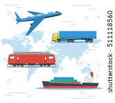 concept of logistics or freight ... | Shutterstock . vector #511118560