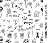 doodle seamless pattern of... | Shutterstock .eps vector #511120426