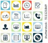 set of 16 universal editable... | Shutterstock .eps vector #511121869