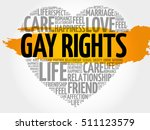 gay rights word cloud collage ... | Shutterstock .eps vector #511123579