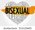 bisexual word cloud collage ... | Shutterstock .eps vector #511123603