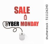 cyber monday sale advertising... | Shutterstock .eps vector #511126240