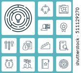 set of project management icons ... | Shutterstock .eps vector #511129270